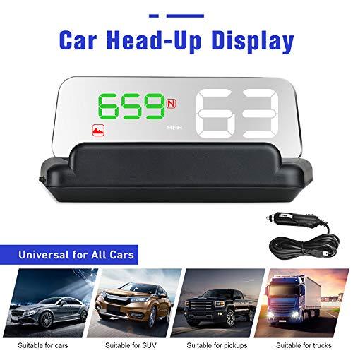 4,3'LCD Tête à Haute Visualisation HUD GPS Numérique Capteur de Lumière Numérique HUD Display Compétitive Direction de Conduite Kilométrage Altitude Temps de Parcours Alarme de survitesse Compass