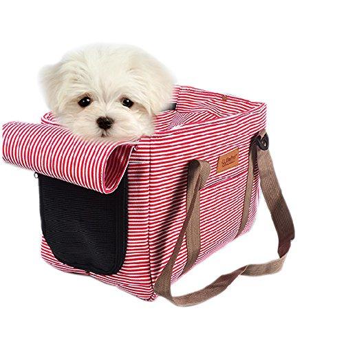Haustier Transporttasche für Hunde Tragbar Transportbox für Hund Katze & Kleintier Nylon Faltbare Hunde Transportbox (L)
