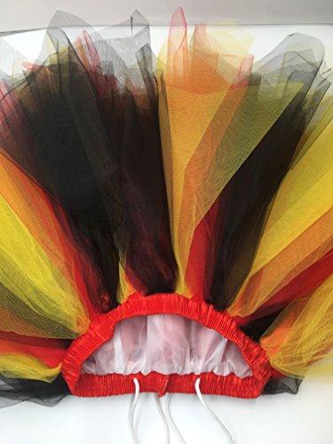 Honeystore Damen's Neuheiten Tutu Unterkleid Rock Ballet Petticoat Abschlussball Tanz Party Tutu Rock Abend Gelegenheit Zubehör Flagge Deutschlands Schwarz Rot und Gelb