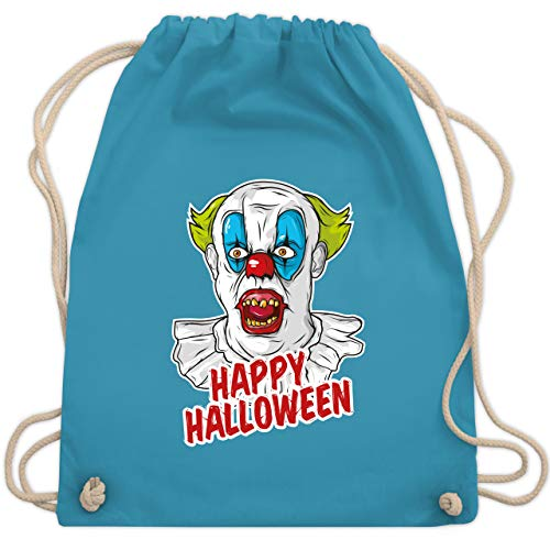 Halloween - Happy Halloween - Clown - Unisize - Hellblau - WM110 - Turnbeutel & Gym (Spooky Clown Kostüm)