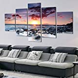 adgkitb canvas 5 Stücke Leinwand Gemälde Gedruckt Sunny Sea Reef Wandkunst Leinwand Modularen...