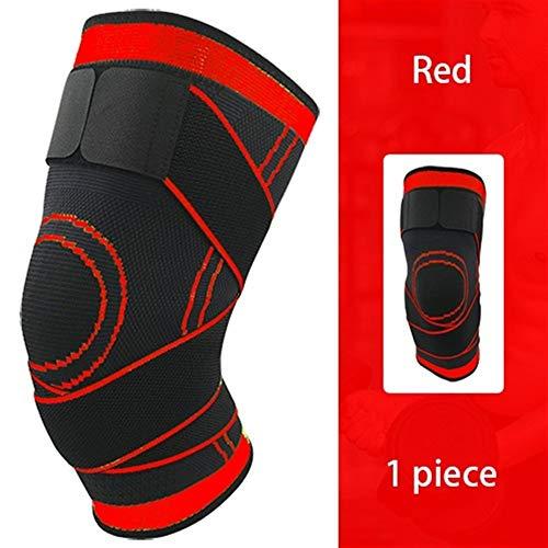 A1-Brave kniebandage 1PCKneepad Support Professional Protective Sports Knieschützer Breath Bandage Knieorthese Basketball Tennis Radfahren (Color : Red, Size : XXXL)