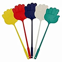Uokoki 5pcs Home Kitchen Accessory Hand Palm Shaped Plastic Flyswatter Color Randomly