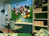 AG Design FTDm 0706  Disney Mickey Mouse Minnie, Papier Fototapete Kinderzimmer- 160x115 cm - 1 Teil, Papier, multicolor, 0,1 x 160 x 115 cm