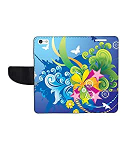 KolorEdge Printed Flip Cover For Apple iPhone 5C - Multicolor(43KeMLogo8492iPhone5C)