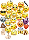 MOT Global 27 pcs Emoji Photo Booth Props Kit Festa Forniture DIY Accessori per Compleanno Matrimonio Natalizio del Partito