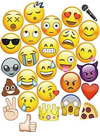 MotGlobal 27 Stücke emoji Photo Props Fotorequisiten