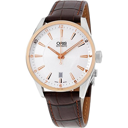 ORIS ARTIX HOMME 39MM BRACELET CUIR MARRON AUTOMATIQUE MONTRE 73377136331LS