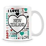 Tazza di caffè, i Love New Zealand personalizzata ceramica tazza di caffè, 311,8gram, bianco
