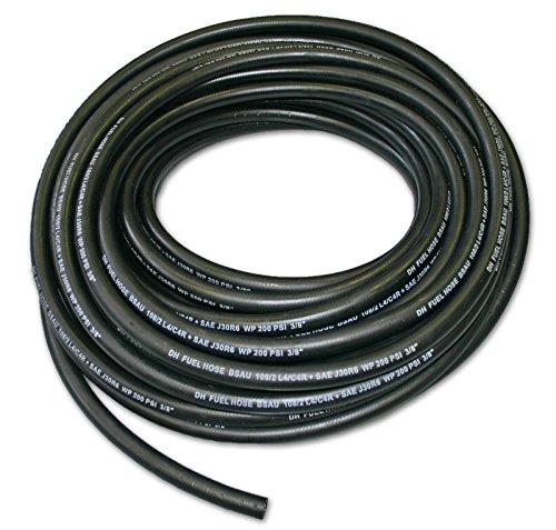 Reinforced Rubber Fuel Hose - 8mm ID - Unleaded Petrol, Diesel, Oil Line & Fuel Pipe - BSAU 108/2 J30R6 (5 Metres) Test