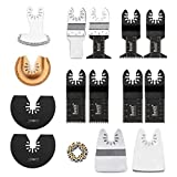 Baban 15pcs Kit de Cuchillas Multitool Adatto ROCKWELL SONICRAFTER WORX Accessorio oscillatore Multitool