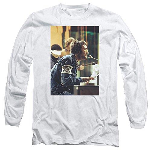 John Lennon Herren Langarmshirt Weiß
