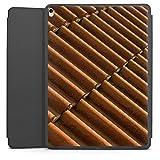 Apple iPad Pro 12.9 (2017) Smart Case schwarz Hülle mit Ständer Schutzhülle Dachziegel Ziegel Look Pattern