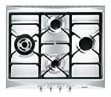 Smeg SR264XGH Built-in Gas Stainless steel hob - hobs (Built-in, Gas, Stainless steel, Cast iron, 1050 W, 1650 W)
