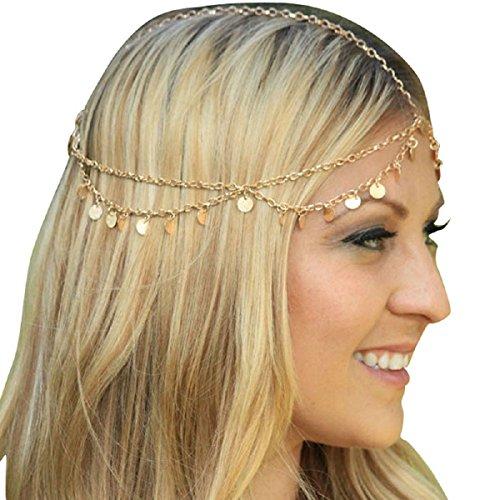 Malloom® venta caliente simple borlas del flash paillette banda de joyas de cabeza / piezas brillantes de la cadena / banda para el