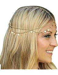 Malloom® venta caliente simple borlas del flash paillette banda de joyas de cabeza / piezas brillantes de la cadena / banda para el cabello