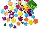 """Libetui Sticker Set 120 Glitzernde Moosgummi-Aufkleber """"Blumen"""" selbstklebend Deko-Set zum selbst Gestalten kreative Beschäftigung bunte Farben"""