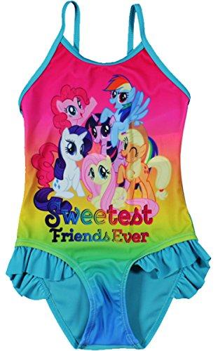 Mein Kleines Pony (My Little Pony) MLP Bademode / Schwimmen Kostüm (2/3 Jahre, Türkis)