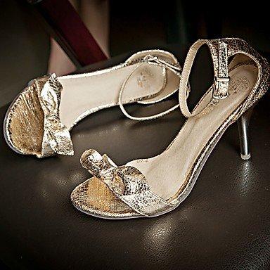 LvYuan Da donna Sandali Finta pelle PU (Poliuretano) Estate Autunno Footing Fibbia A stiletto Oro Nero Argento 2,5 - 4,5 cm Black