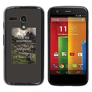 GooooStore / Tasche Etui Hülle - Inspiring Smart Quote - Motorola Moto G 1 1ST Gen I X1032