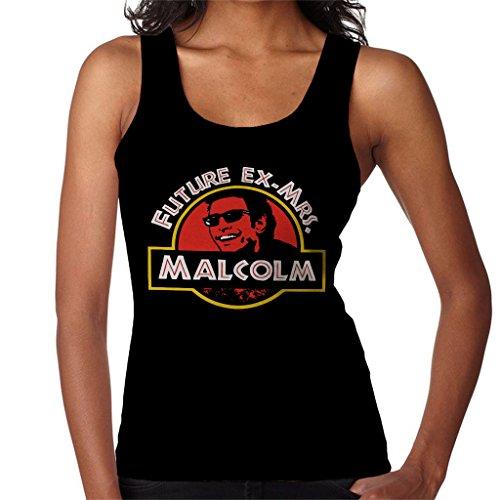 Future Ex Mrs Malcolm Jurassic Park Womens Vest Black