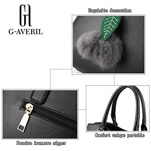 (G-AVERIL) PU pelle Donna borsa Designer Bag Fashion Borsa a Spalla Borse a Mano Blu scuro