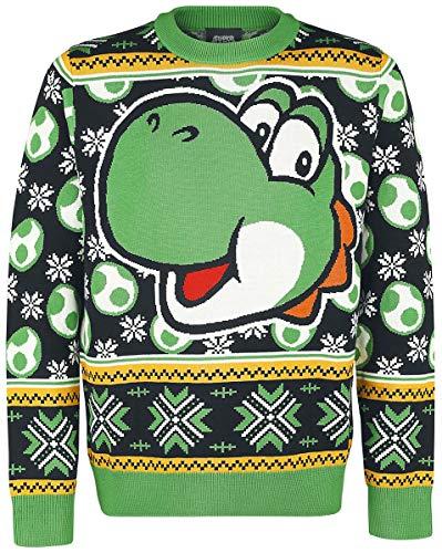 Unbekannt Super Mario Yoshi Weihnachtspullover Multicolour M