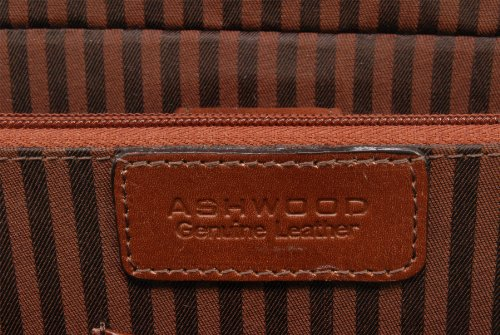 Ashwood Windsor, Borsa per documenti e portatile, Uomo Castagna Brown