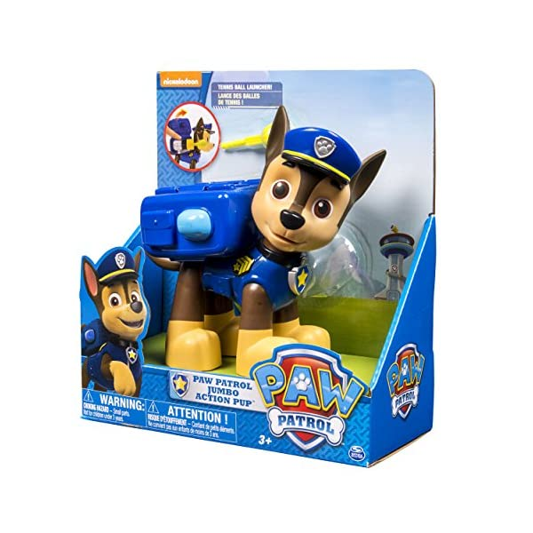 Paw Patrol Pup Acción Jumbo - Chase 6