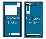 MMOBIEL Sticker Set Für Sony Xperia Z2 Front + Rückseite Backcover doppelseitiger Kleber Glue zum befestigen von LCD Front und Akkudeckel inkl. Tuch und 2er Set Wet & Dry Reinigungs Pads