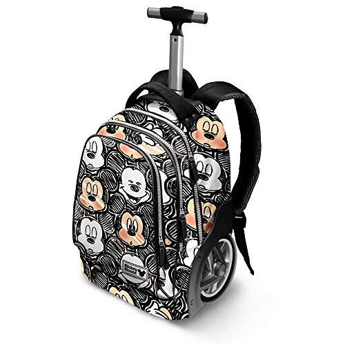 Karactermania Disney Classic Mickey Oh Boy-GT Travel Trolley Backpack Rucksack, 51 cm, 42 liters, Schwarz (Black)