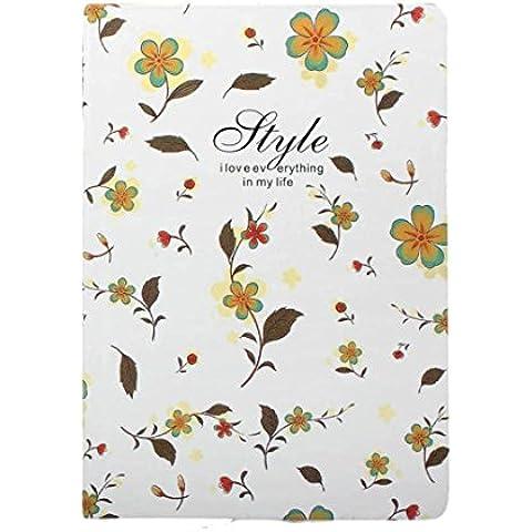 Oyedens Cuero De La Cubierta Del Cuaderno Bloc De Notas Amor Vals Hermosa Flor Floral A5 Diario Libro