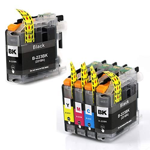 5 Druckerpatronen mit Chip Kompatibel zu Brother LC223 für MFC-J5320DW DCP-J4120DW MFC-J480DW MFC-J5720DW MFC-J5625DW MFC-J4620DW MFC-J4420DW MFC-J880DW MFC-J4625DW DCP-J562DW MFC-J5620DW MFC-J680DW