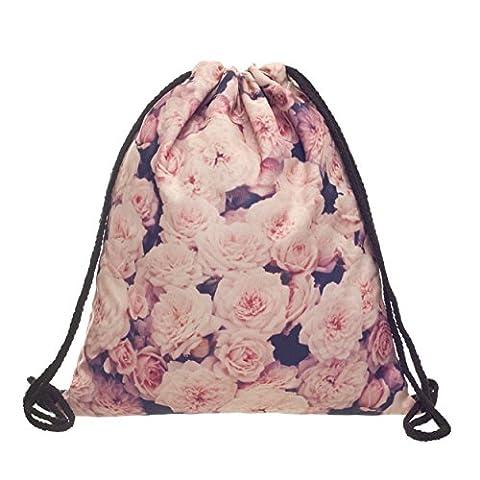 Beutel Roses Vintage Roses Powder Rosen Blumen Blüten Fullprint All