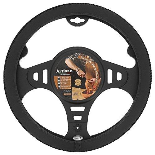 HABILL-AUTO Couvre Volant Artisan Noir Car+ pour Volant 37/39cm