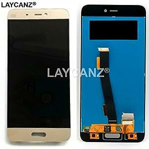 LAYCANZ Original. Xiaomi Mi 5 Gold LCD Display Screen + Touch Screen Glass Digitizer Assembly + Aluminium 5in1 Tools