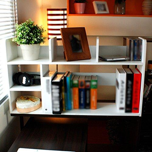 DFHHG® Librería Soporte de libro 80 (L) * 21 (W) * 46,5 (H) cm Estante de almacenamiento Estante Blanco Azul durable ( Color : Blanco )