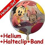 Carpeta Bubbles Ballon * Baby Minnie Mouse * + Helium FÜLLUNG + Halter als Geschenk für Einen Kindergeburtstag Oder zur Geburt // Zum Spielen Mitgebsel Geburtstag Disney Mickey