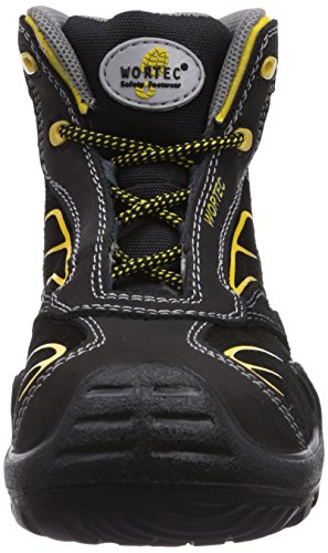 Wortec Harrison Mid S3, Chaussures de Sécurité Pour Homme Noir - Schwarz (schwarz/gelb)