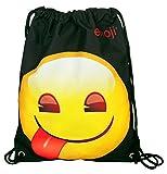 Undercover EMTU7245A Schuhbeutel, Emoji mit Zunge, ca. 32,5 x 45 cm