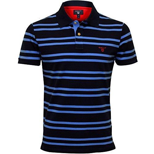 Gant 3-Farbkontrast Pique Rugger Herren Poloshirt, Persisch Blau Xx-large (Formale Klassische Ausgestattet Shirt)