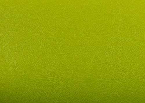 Peel & Stick Faux Leather Pre-pasted Polyurethane Leather Self-adhesive Multipurpose Contact Paper [Buffalo Pastel Green : 19.68 inch X 53.14 inch] by Pre-pasted Faux Leather