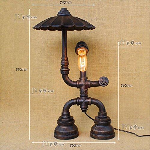YU-K Retro Lampen kreative Lampen Schlafzimmer Lampen Industrie-Stil Licht Eitelkeit Schrank Einzelkopf Lampen -