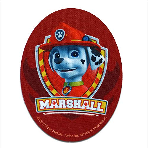 0b09d2a011562 Toppe termoadesive - Paw Patrol Squadra dei Cucciol 'Marshall 1' - rosso -  11 x 8 cm - © 2016 Spin Master PAW Productions Inc. Patch Toppa ricamate ...