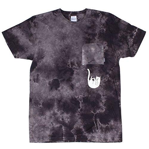 Herren T-Shirt Rip N Dip Falling For Nermal Pocket T-Shirt Black Wash