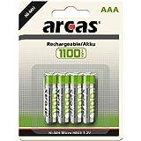 Arcas Set de 4 Piles Rechargeables HR03 1100 mAH/1,2 V