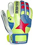 Derbystar Kinder XP Protect 1 Torwarthandschuhe, Gelb/Blau/Orange, 6