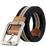 OUMIZHI® Lässige Stoff Strickband Gürtel für Männer Ceintures Homme 100-125 cm