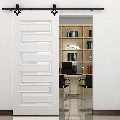 hahaemall 3,7m/3.66m Staffa di metallo a rullo singolo scorrevole porta