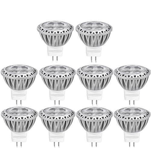 Daping Lampadine LED GU4.0 Lampadine Faretti MR11 Riflettore Luce 3W 12V Pari a Lampadine Alogena da 35W, Spotlight 80Ra, 250LM, 30 Grandangolare, Bianco Caldo 2700K, Confezione da 10 Faretti LED [Classe di efficienza energetica A+]